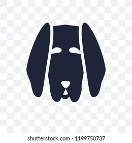 Bloodhound dog transparent icon. Bloodhound dog symbol design from Dogs collection. Simple element vector illustration on transparent background.