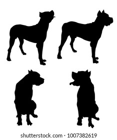 Bloodhound Dogs Silhouette Bloodhound Dogs Silhouette is a vector illustration.