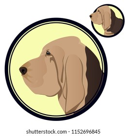 Bloodhound head in circle