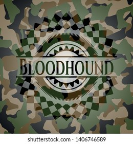Bloodhound on camouflaged texture. Vector Illustration. Detailed.