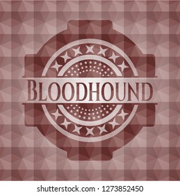 Bloodhound red seamless badge with geometric background.