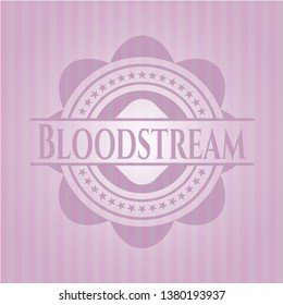 Bloodstream badge with pink background