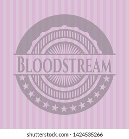 Bloodstream badge with pink background. Vector Illustration. Detailed.