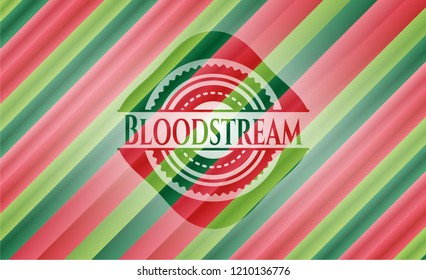 Bloodstream christmas colors style badge.