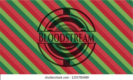 Bloodstream christmas emblem background.