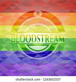 Bloodstream lgbt colors emblem