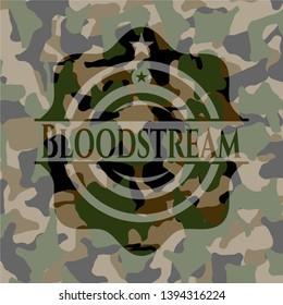 Bloodstream on camo pattern. Vector Illustration. Detailed.