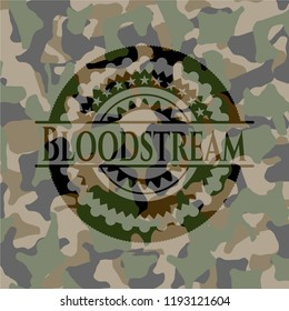 Bloodstream on camo texture