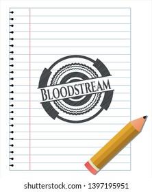 Bloodstream pencil draw. Vector Illustration. Detailed.