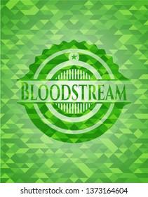 Bloodstream realistic green mosaic emblem