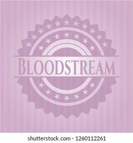 Bloodstream retro style pink emblem