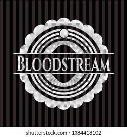 Bloodstream silver emblem. Vector Illustration. Mosaic.