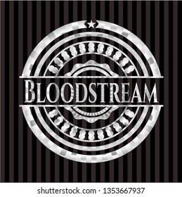 Bloodstream silvery shiny emblem