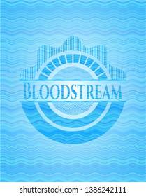 Bloodstream water emblem. Vector Illustration. Detailed.
