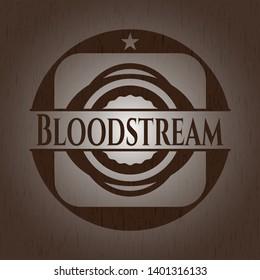 Bloodstream wood emblem. Vintage. Vector Illustration.