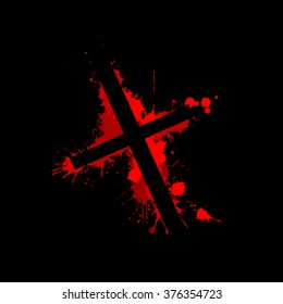 the bloody cross. Vector