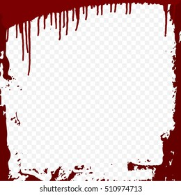 Bloody frame design template a transparent background