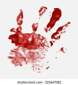 Bloody Hand-Print Vector