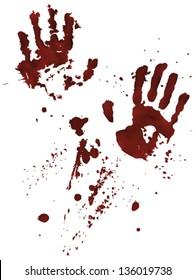 Bloody Hand-prints