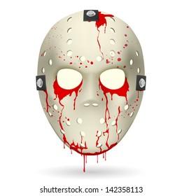 Bloody Hockey Mask. Illustration on white background for design.