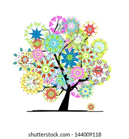 Blooming tree for your design