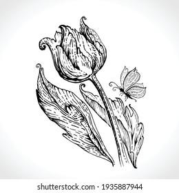 Tulip Tattoo Images Stock Photos Vectors Shutterstock