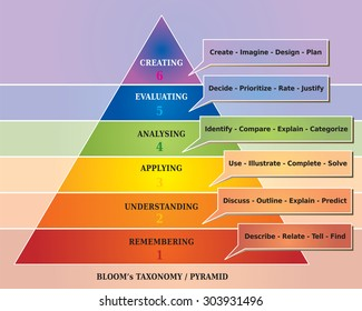 Bloom's Pyramid / Taxonomy Illustration, Educational Tool