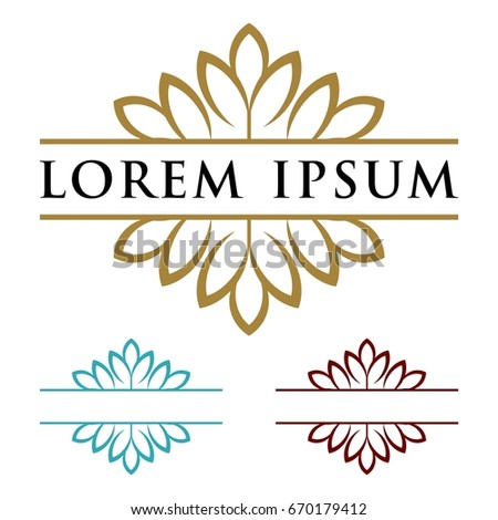 blossom flower border template stock vector royalty free 670179412