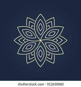 blossom. graphic image of a flower for a logo design. vector eps8