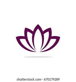 Blossom Lily / Lotus Flower Logo Template