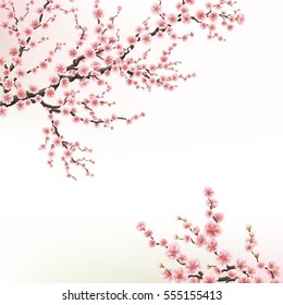 Blossoming Cherry Tree. EPS 10 vector file included