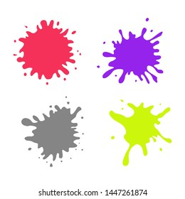 Blots set icons. Graphic template. Vector illustration