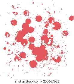 Blots splash red