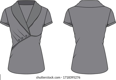 blouse for lady vector template