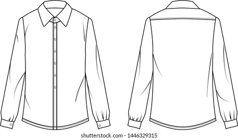 blouse vector for lady template