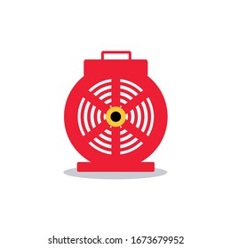 Blower Door Icon Vector Isolated on White Background