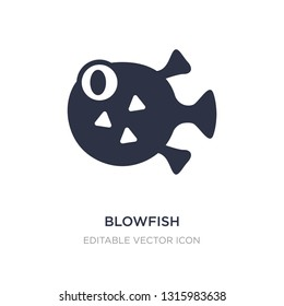 blowfish icon on white background. Simple element illustration from Animals concept. blowfish icon symbol design.