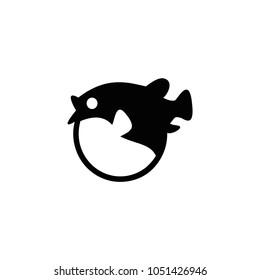 Blowfish icon. Vector blowfish illustration