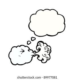 blowing cloud cartoon
