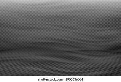 Blowing wind or strong airflow, gentle breeze, windy weather, air movement abstract depiction as semi-transparent vector effect