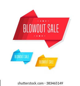 Blowout Sale Tags