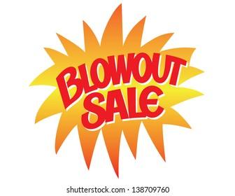 Blowout Sale Vector Lettering