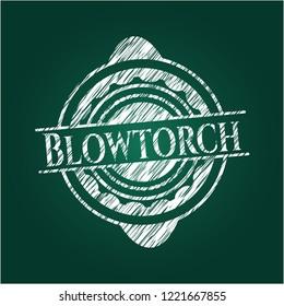 Blowtorch chalk emblem