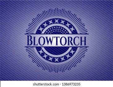 Blowtorch denim background. Vector Illustration. Detailed.
