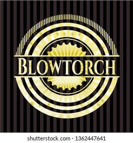 Blowtorch gold badge or emblem