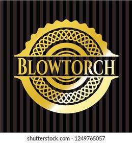 Blowtorch gold emblem or badge
