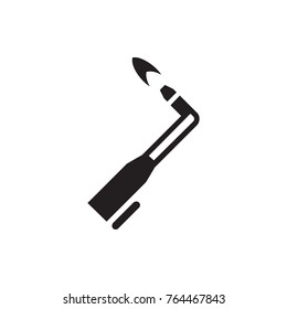 blowtorch icon illustration isolated vector sign symbol