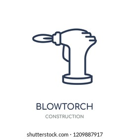 blowtorch icon. blowtorch linear symbol design from Construction collection. Simple outline element vector illustration on white background.