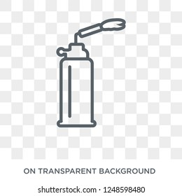 blowtorch icon. Trendy flat vector blowtorch icon on transparent background from Construction collection. High quality filled blowtorch symbol use for web and mobile