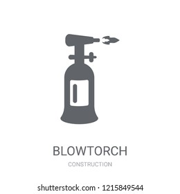 blowtorch icon. Trendy blowtorch logo concept on white background from Construction collection. Suitable for use on web apps, mobile apps and print media.
